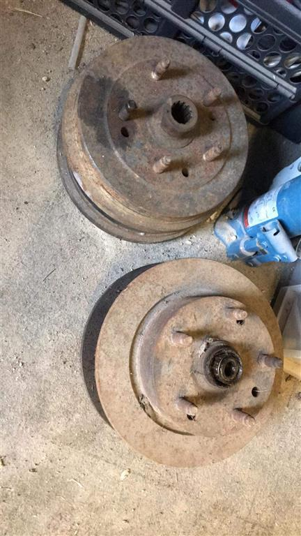 Some before and after shots of the brakes